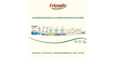 Friendly Organic nahasõbralikud tooted sinu perele