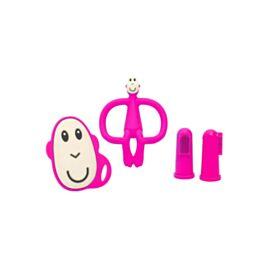 Matchstick Monkey Starter Set Pink näpuhambaharjad +  närimislelud