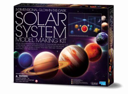 3D pimeduses helendava päikesesüsteemi valmistamise komplekt / 4M