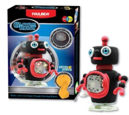 Super Dough Liikuv helendav robot, must / Paulinda