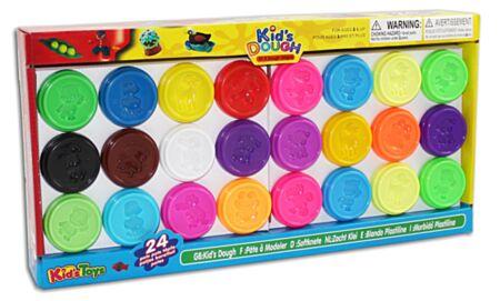 24 KidsDough värvilised voolimisvahad 24x50gr.