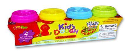 4 KidsDough neoon voolimisvahad 4x50g