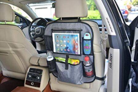 Autoistme seljatoe kaitse taskutega tahvelarvuti hoidjaga - hall / Altabebe