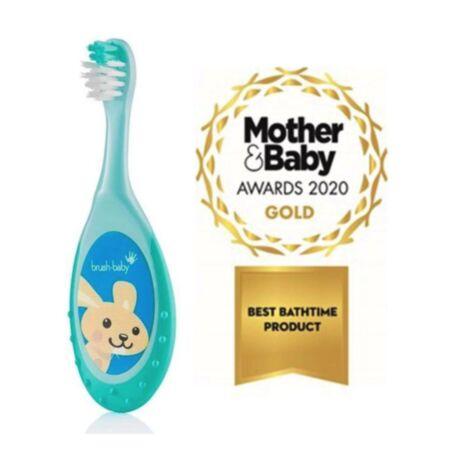 Brush Baby FlossBrush näritava otsaga hambahari vanusele 0-3 eluaastat – türkiisroheline