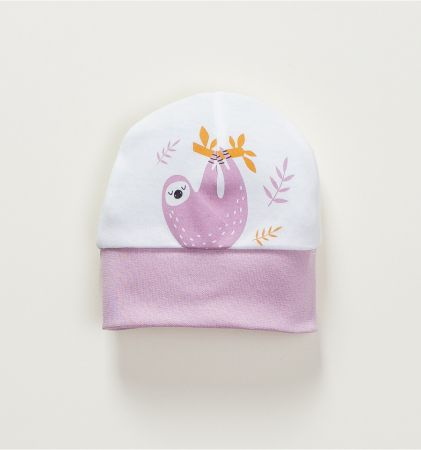 Beebimüts valge/sirel Laiskloom 36
