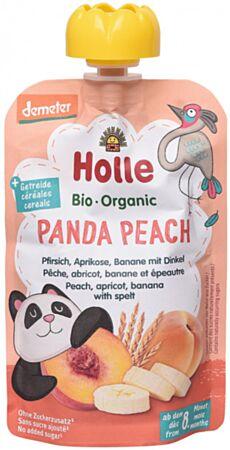 Holle Virsiku-aprikoosi banaanipüree speltaga 100g (Panda Peach)