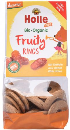 Holle orgaanilised puuviljarõngad datlitega 125g al.3.a.