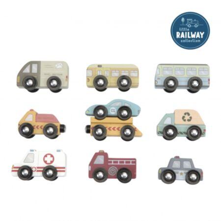 Puidust autod 9 tk (rongiraja kollektsioon)