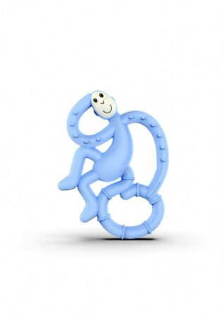Matchstick Mini Monkey Teether Light Blue