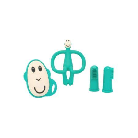 Matchstick Monkey Starter Set Green näpuhambaharjad +  närimislelud
