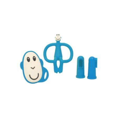 Matchstick Monkey Starter Set Blue näpuhambaharjad +  närimislelud
