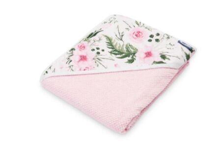 Kapuutsiga vannirätik roosa 100X100cm /Sensillo
