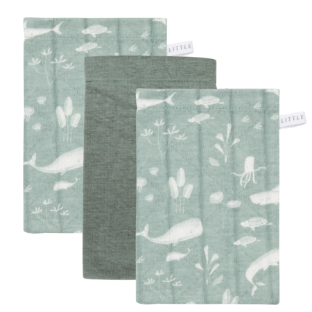 Pesemise lapikesed 3 tk ´Ocean Mint and Pure Mint´