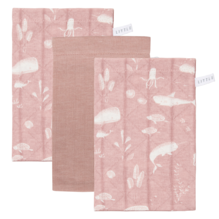 Pesemise lapikesed 3 tk ´Ocean Pink and Pure Pink´