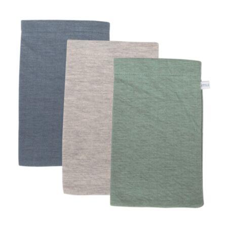 Pesemise lapikesed 3 tk ´Pure Blue, Grey and Mint´