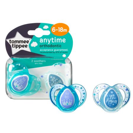 Tommee Tippee lutt silikoon 2tk 6-18k Anytime You rule
