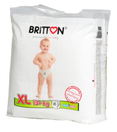 Britton püksmähkmed Girl&Boy XL 13+kg, 18tk/pk
